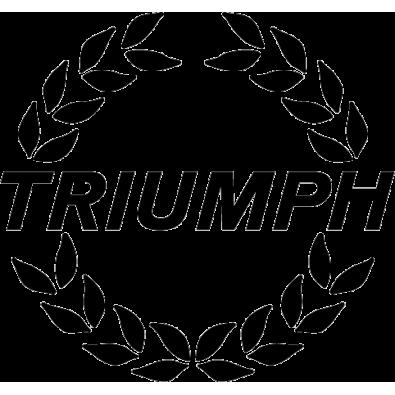 Autocollant / Sticker triumph laurier