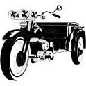 Autocollant / Sticker moto dessin